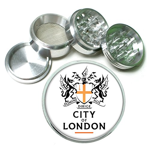 - City of London Emblem 4 Pc. Aluminum Tobacco Spice Herb Grinder