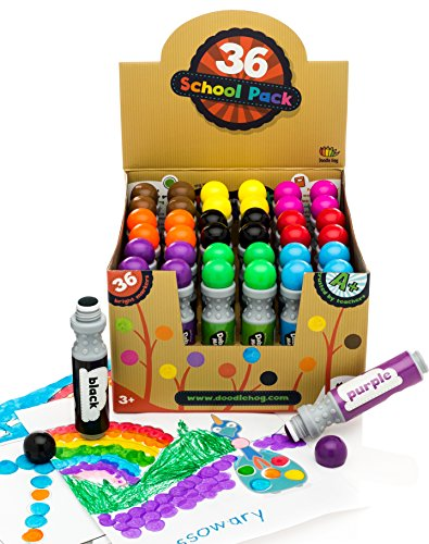 (36 Markers Dabber /Dauber Art Markers in Bulk for School/Class by Dab and Dot Markers)