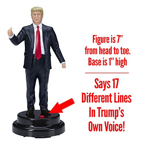 Donald Trump Talking Figure, Says 17 Different Audio Lines In President Trump's Own Voice by Hillary Laughing Pen (Image #1)