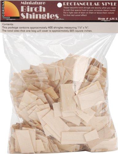 Leafware Dollhouse Shingles 1.5x.75 400/Pkg-Rectangular
