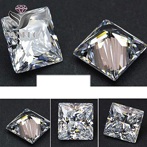 (Kamas Newly arrival rhinestones 4447 500pcs 4mm unfoiled Square White Shiny Cubic Zirconia Big Crystals for DIY Wedding 3D Nail Stone - (Color: white 500pcs))