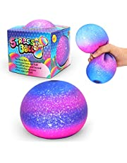 Stress Balls-Squishy Ball Fidget Toy for Adults and Kids-Giant Sensory Squeeze Anxiety Relief Toys for Party School Family