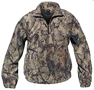 Amazon.com : Natural Gear Camo Fleece Pullover Hunting Shirt ...