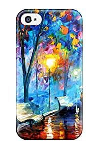 New Style NYKV66BMGTOY6ZJ4 4/4s Scratch-proof Protection Case Cover For Iphone/ Hot Abstract Painting Phone Case