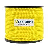 "Sea-Strand 5/16"" x 600' Reel, Yellow, 3-Strand"