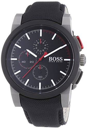 Hugo Boss Chronograph Black Dial Black Nylon Strap Mens Watch 1512979