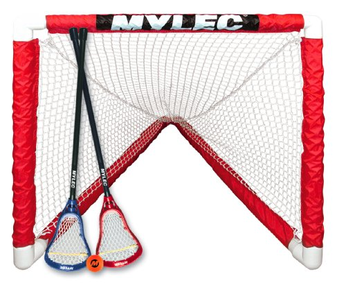 Mylec Mini Lacrosse Goal Set, White ()