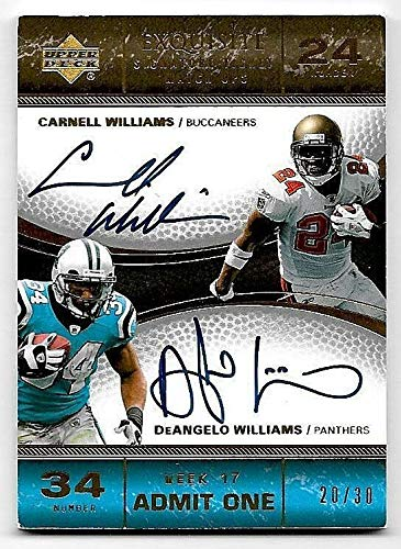 (2007 Exquisite Ticket Matchup Cadillac & DeAngelo Williams Dual Autograph #20/30)