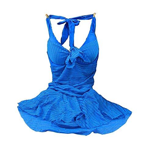 Tamaño de las mujeres Pechos Reúna Conjoined Swimming Apparel, Sapphire, Medium