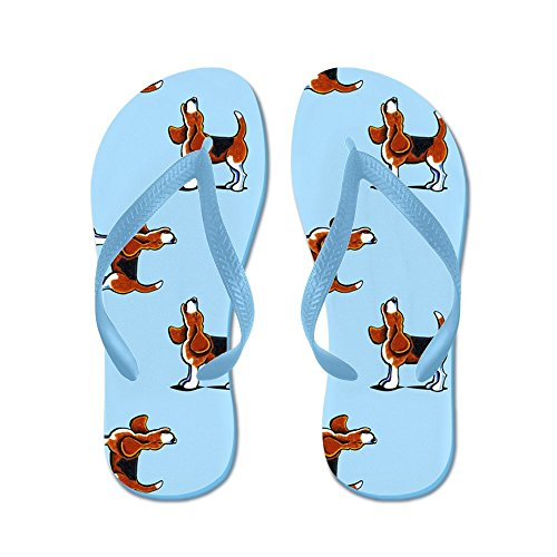 Cafepress Beagle Bay Lichtblauw - Flip Flops, Grappige String Sandalen, Strand Sandalen Caribbean Blue