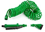 Best Coiled Garden Hoses - Coiled Garden Hoses, Quick Connect, No Kinks, Extends Review