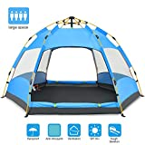 Ylovetoys Camping Tent, Double Layer Family Camping Tent, Instant Pop Up Double-Uses Waterproof Beach Tent 4 Season Sun Shelter Backpacking Tent for Camping Hiking Picnic Beach Fishing