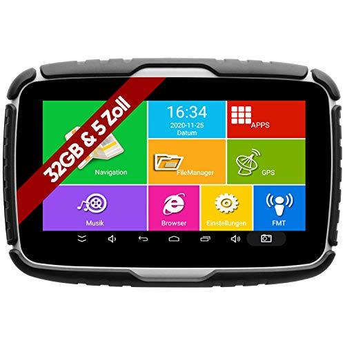 Elebest Navigationsgerät Rider A6+ Navigation für Motorrad und PKW, 5 Zoll Bildschirm Android 6.0 – Bluetooth W-LAN…