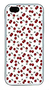 Cute Little Cherry Pattern Theme Iphone 5 5S Case TPU Material Kimberly Kurzendoerfer