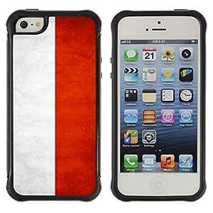 Suave TPU GEL Carcasa Funda Silicona Blando Estuche Caso de protección (para) Apple Iphone 5 / 5S / CECELL Phone case / / National Flag Nation Country Indonesia /