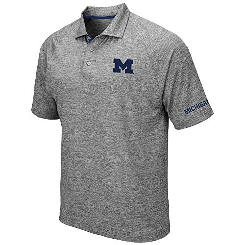 Mens Michigan Wolverines Raglan Polo Shirt - XL
