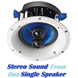 Yamaha Custom Easy-to-install In-Ceiling 2-Way 120 watts Moisture Resistant Single Stereo Speaker