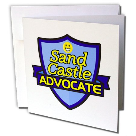 3dRose Dooni Designs – Funny Sarcastic Advocate Designs - Sand Castle Advocate Support Design - 6 Greeting Cards with envelopes (gc_242790_1)