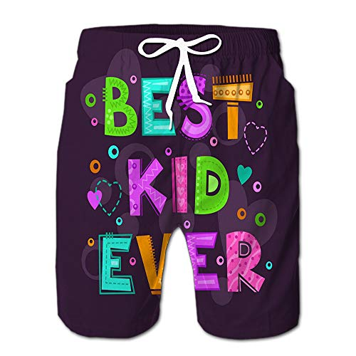 Summer Shorts Pants Best Kid Ever Swim Trunks Stripe Casual Swim Shorts XL