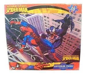 """Marvel Spiderman Lenticular Puzzle ~ Good vs. Evil (28 Pieces; 9"""" x 6"""")"""
