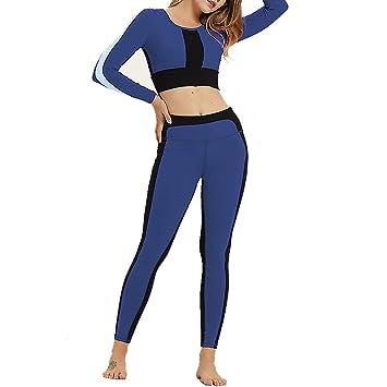 HMJY Slim Fit Casual para Mujer, Conjunto de Yoga de Manga ...