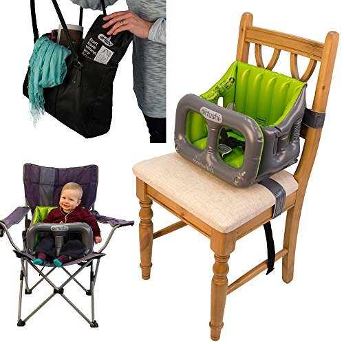 Airtushi - Fully Soft & Padded Inflatable Travel High Chair by Roamwild