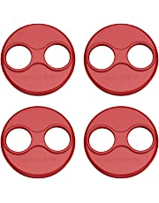 Anbee CNC Aluminum Motor Cap Dust Cover Protector Compatible with DJI Mavic Mini Drone, Pack of 4 (Red)