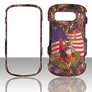 2D Camo USA Flag Pantech Breakout 8995 Verizon Case Cover Hard Phone Case Snap-on Cover Rubberized Frosted Matte Surface Hard Shells