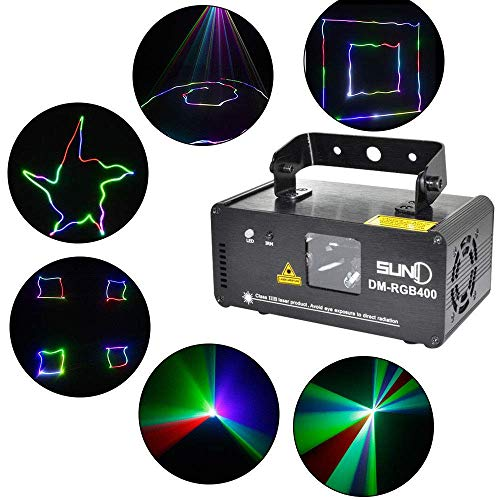 (BoTaiDaHong DM-RGB400 Beam Scan Light Dance Party DJ Show Stage Effect Lights with Remote Controller)
