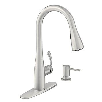 Moen 87014srs Essie Single Handle Pull Down Sprayer Kitchen Faucet