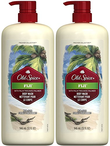 Old Spice Fresher Collection Men's Body Wash, Fiji, 16 Ounce (Pack of 2)