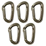 Fusion Climb Contigua Military Tactical Edition Straight Gate Aluminum Carabiner Coyote Brown 5-Pack