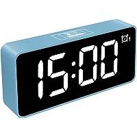 HOMVILLA Reloj Despertador Digital, LED Despertadores Electrónicos Espejo