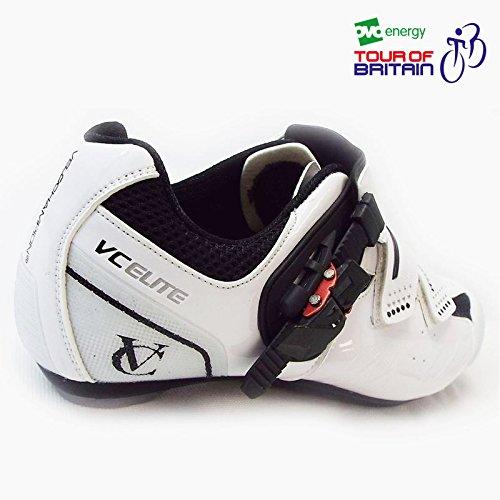 VeloChampion Zapatillas de ciclismo Elite Road (par) Cycling Road Shoes White/Black