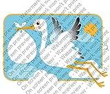 1/2 Sheet - Stork & Baby - Cake Photo Frame - Edible Cake/Cupcake Topper!!!