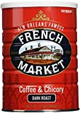 French Market Coffee and Chicory, Dark Roast, 12oz cans (12 Pack)