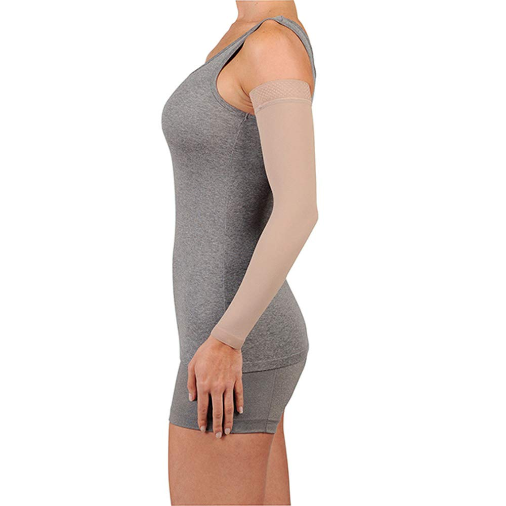 Juzo Soft 2001CG Armsleeve 20-30mmHg w/Silicone Top Band Model: 2001MXCG - MAX, Size: I - Extra Small, Length: R-Regular, Color: Beige 14