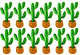 PACK OF 12 INFLATABLE CACTUS 86 CM MEXICAN SCENE SETTER PARTY DECORATION (12X INFLATABLE CACTUS)