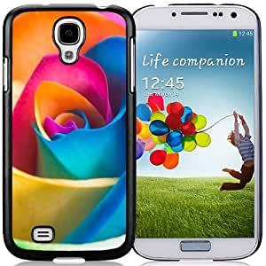 NEW DIY Unique Designed Samsung Galaxy S4 I9500 Phone Case For Colorful Rose Phone Case Cover