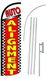 """NEOPlex – """"AUTO Alignment 12-Foot Super Swooper Feather Flag with Heavy-Duty. For Sale"""
