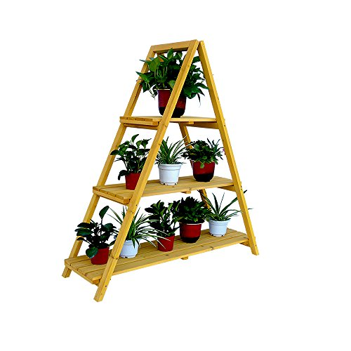 Leisure Season Wooden Ladder Plant Stand