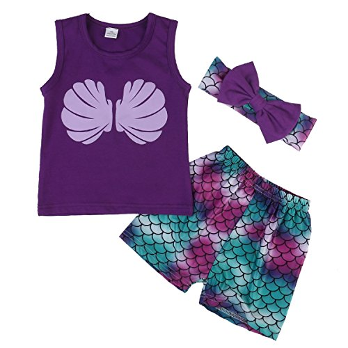 Baby Mermaid Shorts Headband Clothes product image