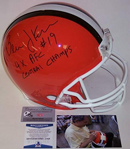 - Bernie Kosar - Autographed Official Full Size Riddell Authentic Proline Football Helmet - Cleveland Browns Throwback - BAS Beckett