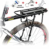 Universal Carrier Bicycle Rear Rack 110 lb Capacity Pannier Bag Cargo Rack SEVEN Minutes to Mount