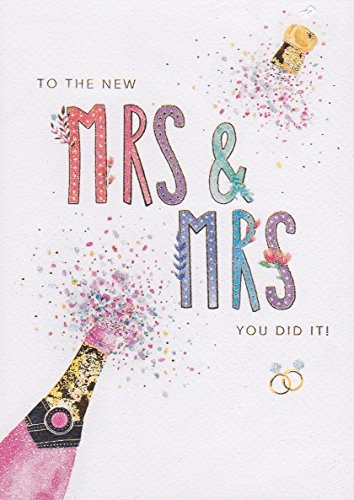 MRS & MRS Wedding Day Card Paper Gallery