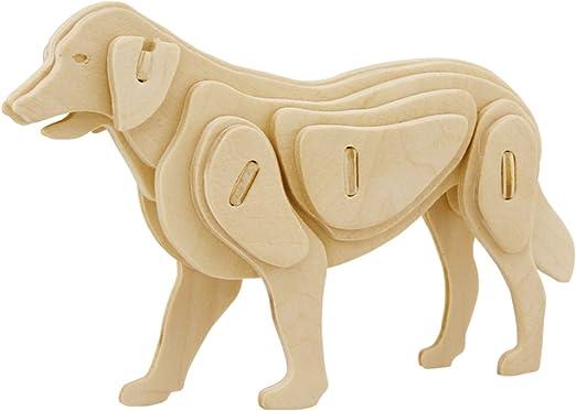 Animal DIY 3D Jigsaw Wooden Model Construction Kit Toy Puzzle Kids Children Gift