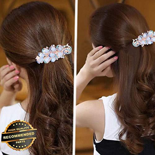 Gatton Premium New Women Girl Crystal Rhinestone Flower Hair Barrette Clip Hairpin Gift   Style HRCL-M182012339