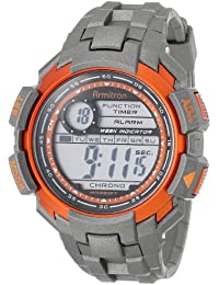Men's 40/8258MORG Orange Accented Grey Resin Strap Digital Chronograph Watch