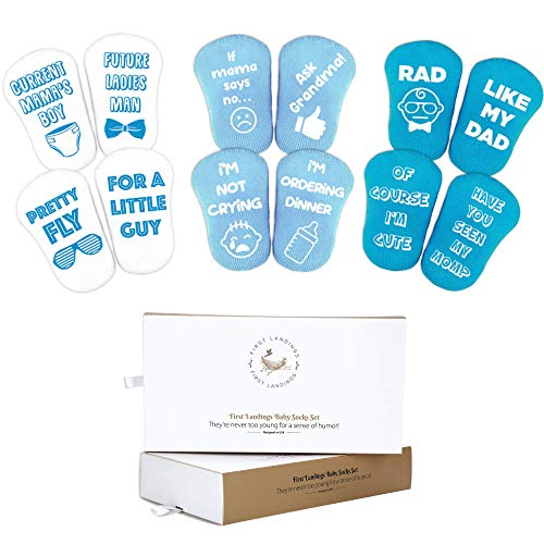 First Landings Baby Socks Gift Set | Boy, Girl and Neutral Baby Shower Gifts