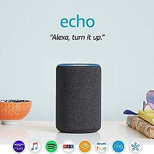 Best Epic Trends 51L36onpy6L._SS300_ Echo (3rd Gen)- Smart speaker with Alexa- Charcoal